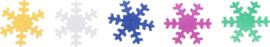 Glanzende confetti, sneeuwvlokken