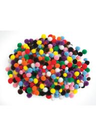 Mini pompons assorti 1.5 cm 500 stuks