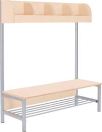 Flexi garderobe met frame 4, hoogte: 26 cm, berk, vlamvertragend