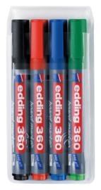Viltstift edding 360 whiteboard rond assorti 3mm etui à 4st