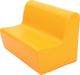 Medium bank zithoogte 26 cm. - oranje