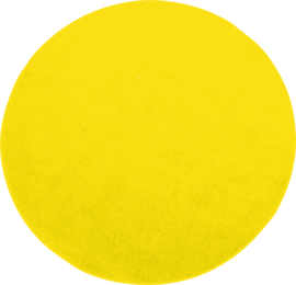 Rond tapijt - dia. 40 cm - geel