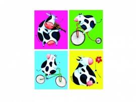 Stickers grappige koeien - serie 4