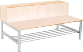 Flexi combibank 4, zithoogte 26 cm., esdoorn