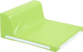Vierkant zitje met rugleuning - groen