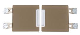Quadro - garderobe deuren 180 - bruin