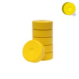 Plakkaatverf | Collall | Geel | Ø 5,5 cm | 6 tabletten