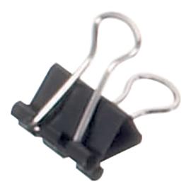 12x Papierklem 16mm capaciteit 5mm zwart