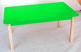 Rechthoekig kleurrijk tafelblad groen