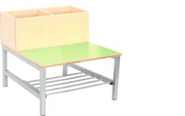 Flexi combibank 2, zithoogte 26 cm., groen