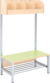 Flexi garderobe 4, zithoogte 35 cm - groen