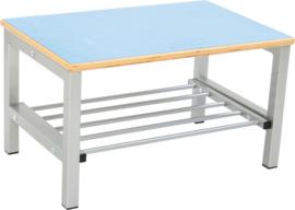 Flexi garderobe bank 2, hoog 35 cm - lichtblauw