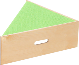 Driehoek platform, hoogte: 20 cm, licht-groen