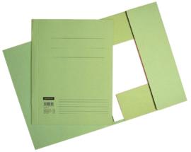 50x Aktemappen 3 kleppen A4 320gr groen