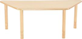 Trapezium Flexi tafel 150,5x80x80cm beuken 58-76cm hoogte verstelbaar