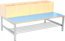 Flexi combibank 4, zithoogte 26 cm., lichtblauw