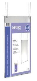 Posterhouder OPUS 2 A3 staand acryl