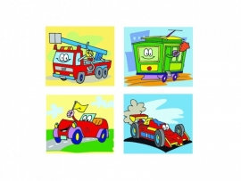Stickers funny transport - serie 103