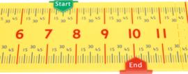 Liniaal voor het meten van tijd