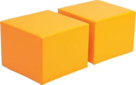 Zachte poefs voor Premium-kast - oranje