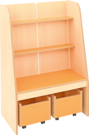 Flexi staande boekenkast - oranje