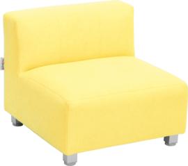 Flexi bank, zithoogte 25 cm,  geel