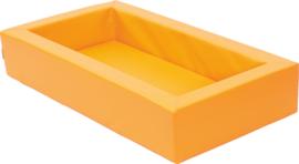 Foam bed 140x75x25cm - Oranje