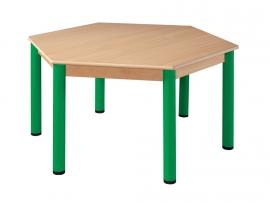 Tafel zeskantig 120 cm.