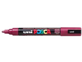 Verfstift Posca medium punt 1.8 - 2.5 mm. wijnrood
