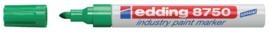 Viltstift edding 750 lakmarker rond groen 2-4mm