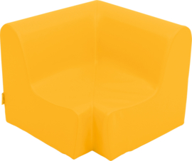 Lage hoekbank zithoogte 20cm - oranje