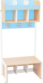 School garderobe Butterfly 3 - licht blauw