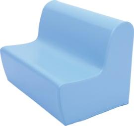 Medium zitbank 75cm zithoogte 26cm - Lichtblauw