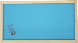 Prikbord 100 x 200 cm - lichtblauw