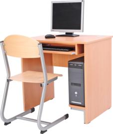 Computerbureau STANDAARD met plank voor computer en toetsenbordlade - beuken