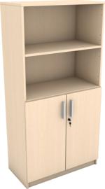 Expo boekenkast met 2 open vakken - esdoorn