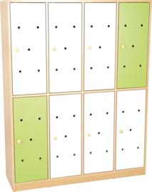 Deuren voor regenboog garderobe, wit - groen, 8 st