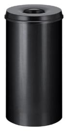 Papierbak met vlamdover Vepabins 50 liter zwart