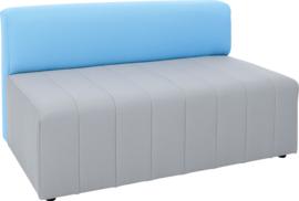 Eigentijdse bank Plus, grijs/blauw
