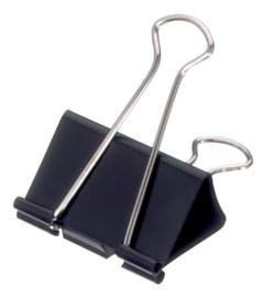12x Papierklem  51mm capaciteit 20mm zwart