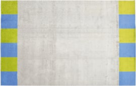 Tapijt 400x300cm - Rand groen/blauw