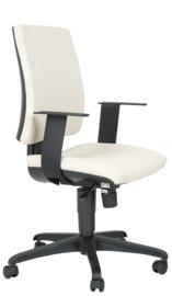 INTRATA bureaustoel met lage rugleuning zwart - beige