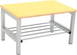 Flexi garderobe bank 2, hoog 35 cm - geel