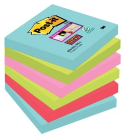 Memoblok 3M Post-it Super Sticky 76x76 mm. 6 stuks