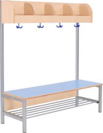 Flexi garderobe 4, zithoogte 35 cm - lichtblauw