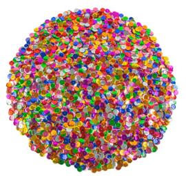 Pailletten mix | Rond 1 cm | Assorti | 100 gram