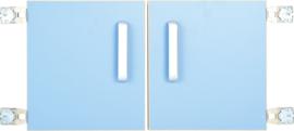 Deur voor niveau verhoger S (092817) - licht blauw