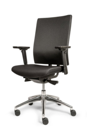 "Bureaustoel ""Perfect"" stoffen rug zwart"