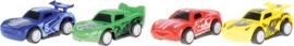 Race voertuigen, set van 4