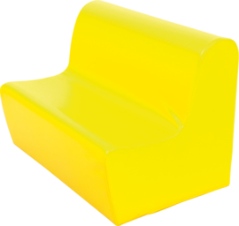 Hoge zitbank 85cm zithoogte 34 cm - Geel